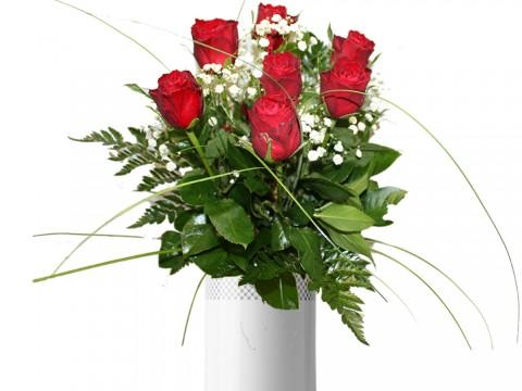 Lillekimp punastest roosidest  (7 tk 60cm)